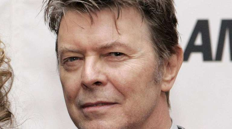 British musician David Bowie arriving for the