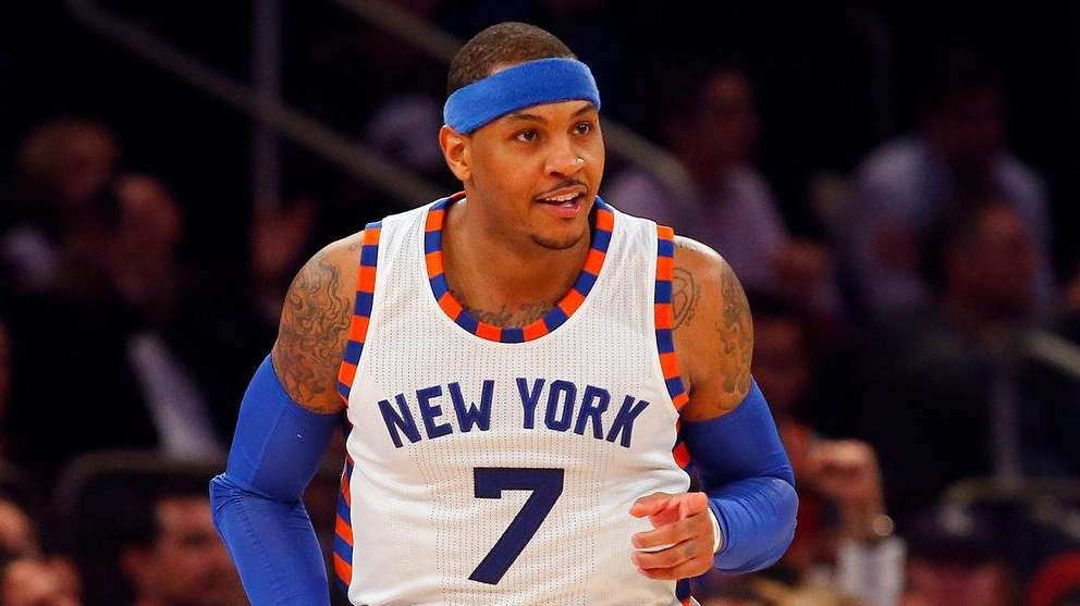 Carmelo Anthony was voted a starter for the