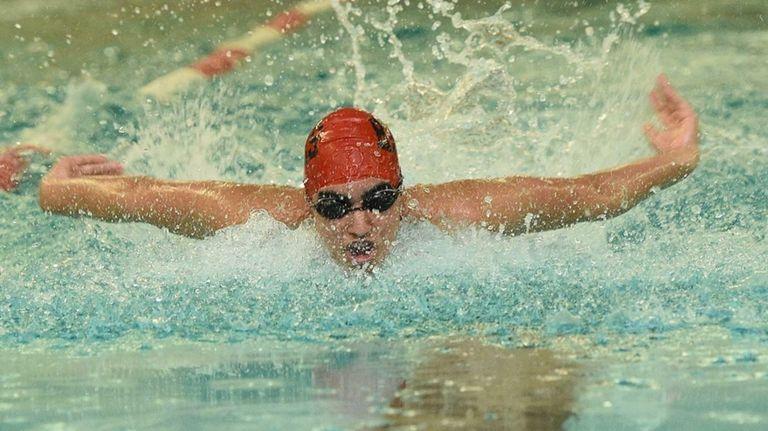 Half Hollow Hills' Kabir Randawna swims the 200