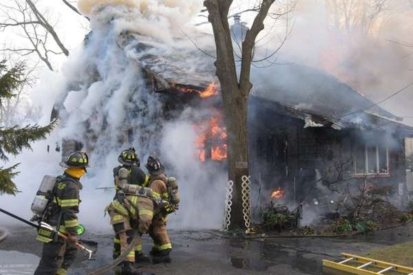 A number of departments assist Bay Shore firefighters