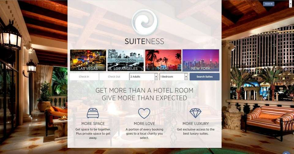 NAME suiteness.com WHAT IT DOES The site opens