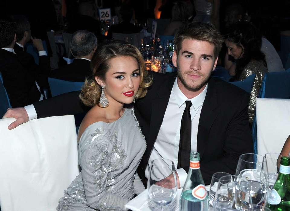 Miley Cyrus and Liam Hemsworth, who first got