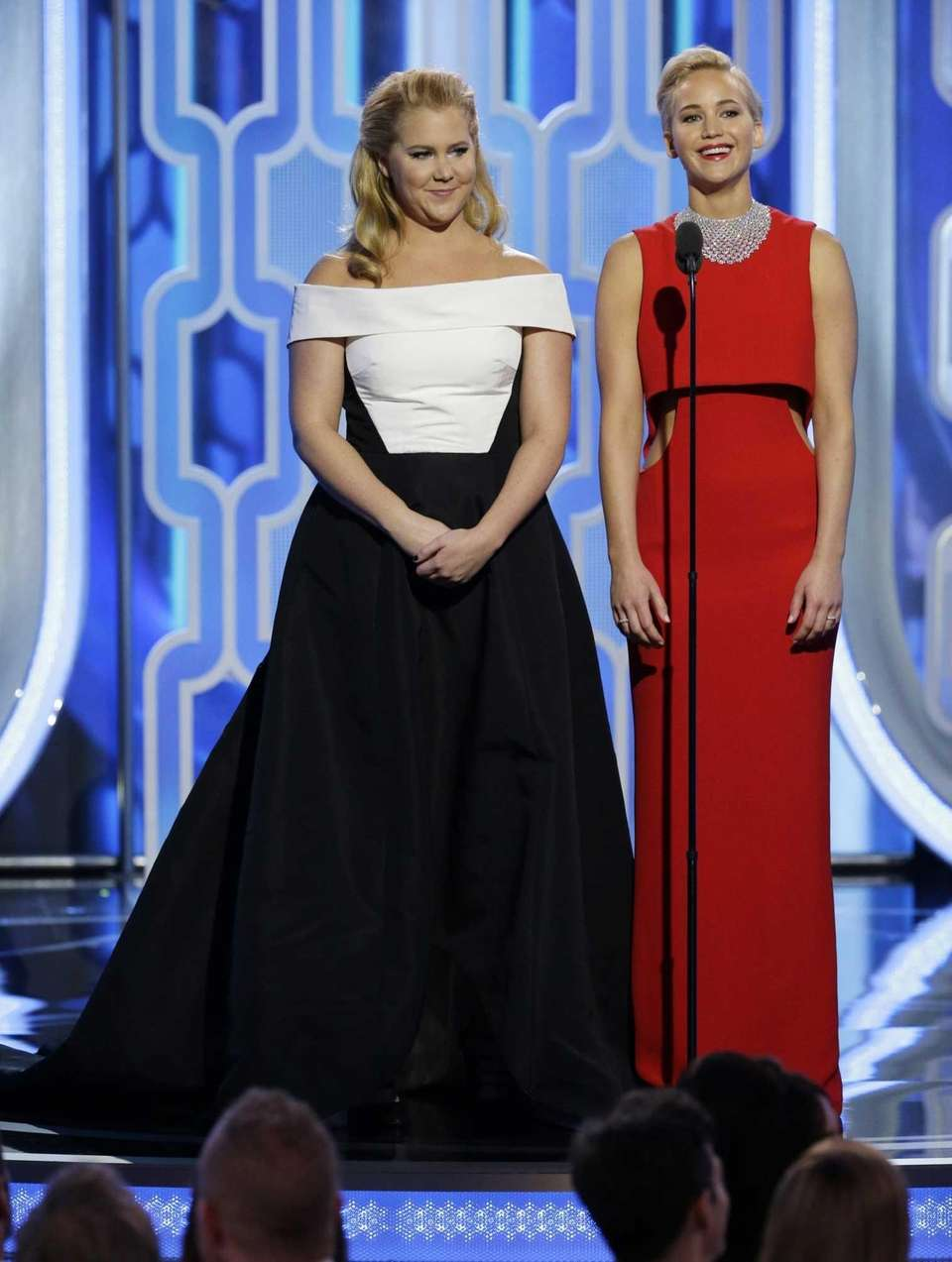 Amy Schemer and Jennifer Lawrence introduce their nominated