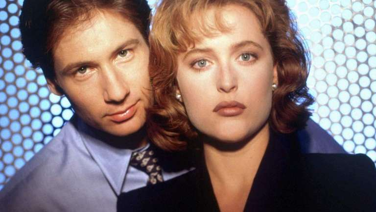 David Duchovny and Gillian Anderson in the