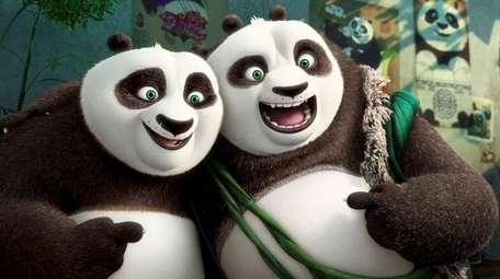 Po (voiced by Jack Black) and his long-lost