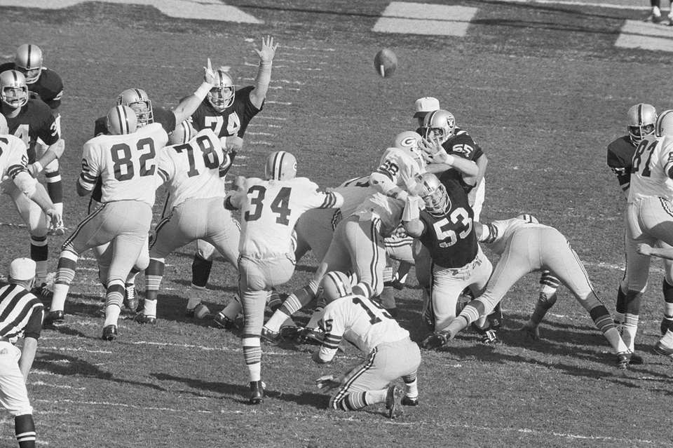 Don Chandler - Packers vs. Raiders, II (pictured)