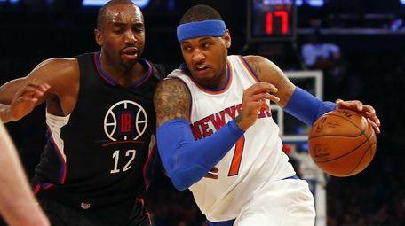 Carmelo Anthony #7 of the New York Knicks
