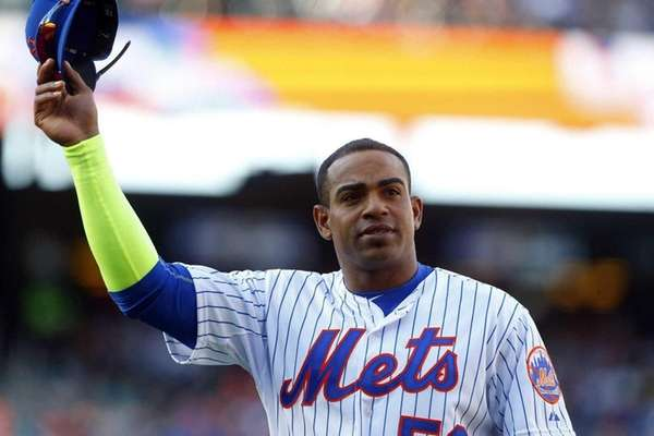 Yoenis Cespedes #52 of the New York