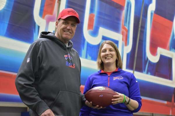 Buffalo Bills coach Rex Ryan and Kathryn