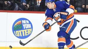 New York Islanders center Ryan Strome passes