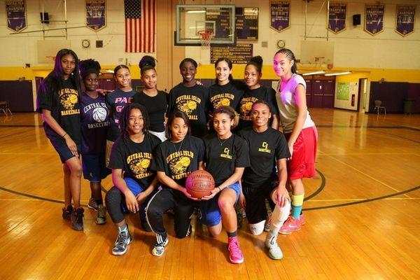 The Central Islip varsity girls basketball team