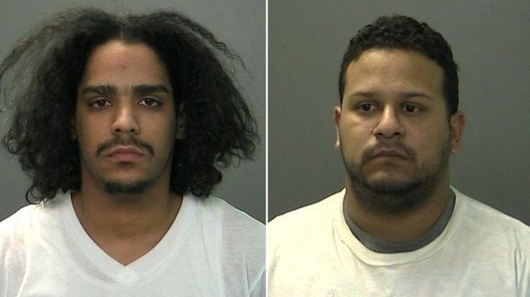 Diego Adames, left, and Dennis Granados were arrested