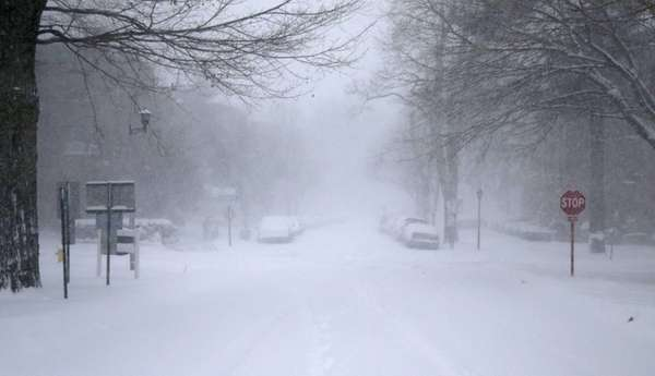 Heavy snow created whiteout conditions on Long Island