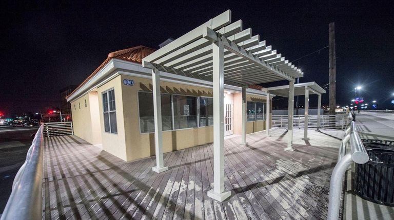 Comfort station on the Long Beach boardwalk Jan