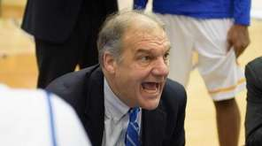 Hofstra Pride head coach Joe Mihalich talks to