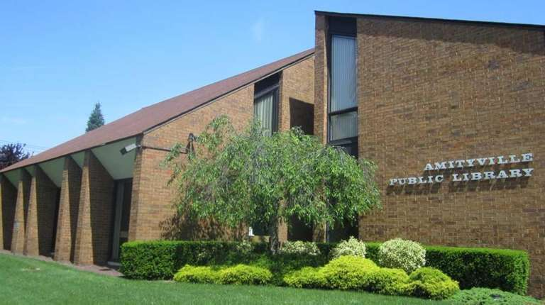 The Amityville Public Library is seen on June