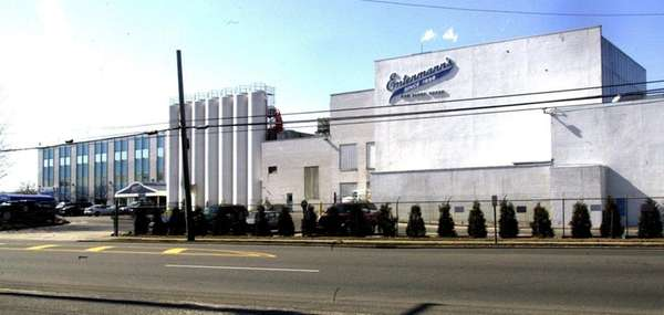 The Entenmann's bakery building in Bay Shore, seen