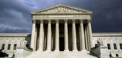 The Supreme Court building is shown in an