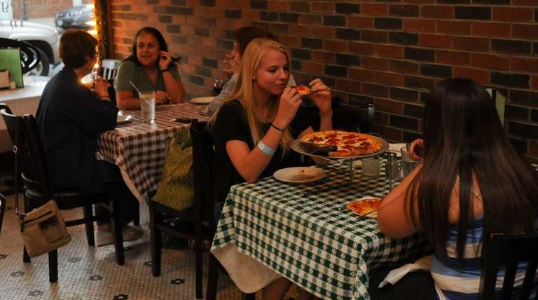 The dining room at Pasquale's Pizza and Pasta