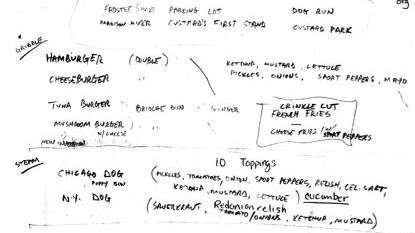 Danny Meyer's scribbled notes on a napkin reveal