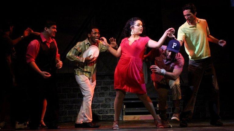Samantha Rosario, center, plays Vanessa in