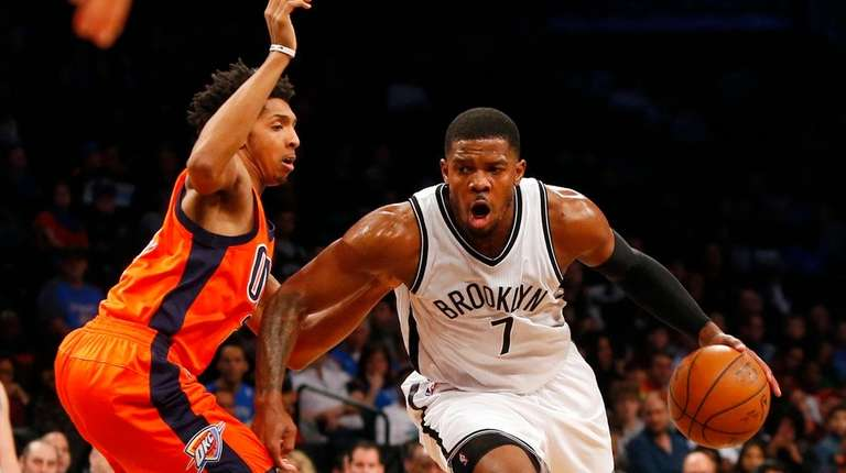 Joe Johnson #7 of the Brooklyn Nets