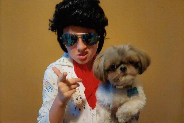 Kidsday reporter Lindsay Radmann with her dog Ringo