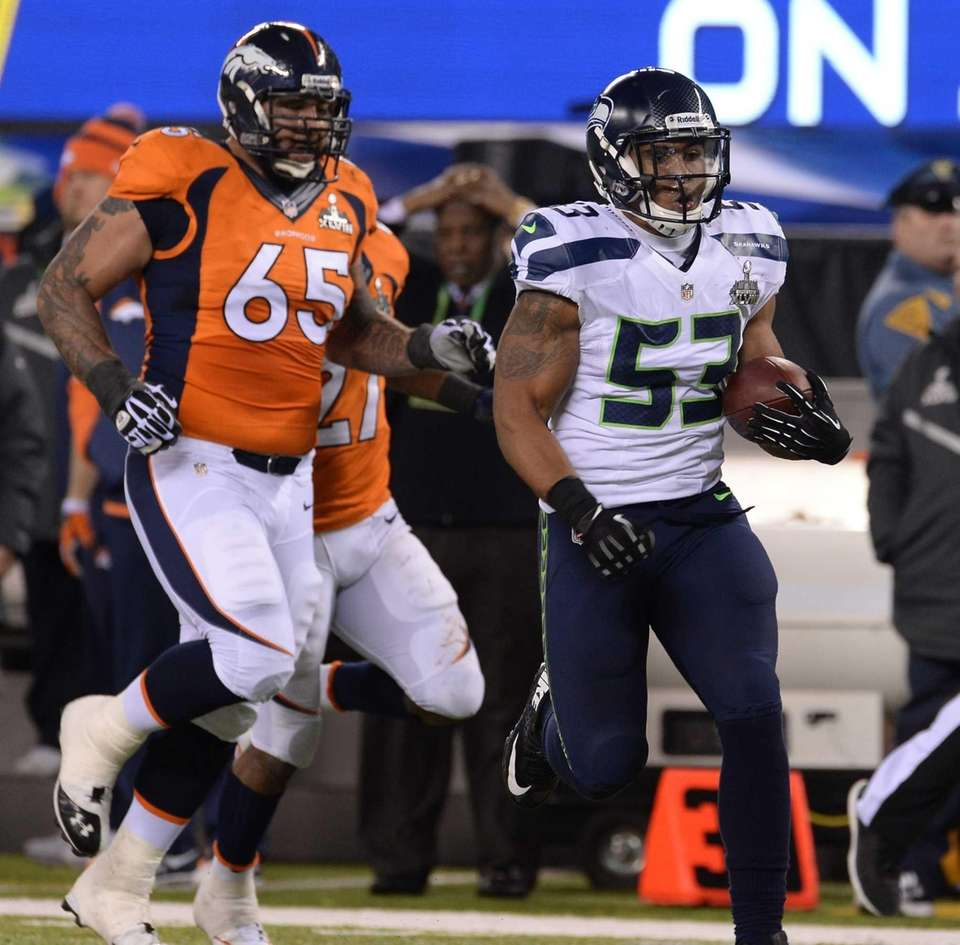 Seahawks linebacker Malcolm Smith was named MVP of