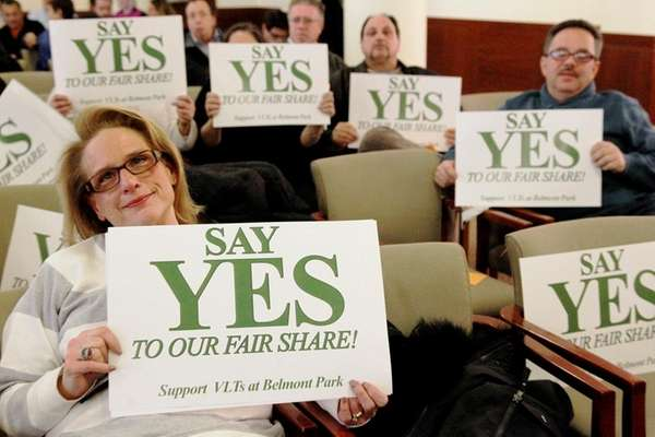 Residents in favor of the proposed casino at