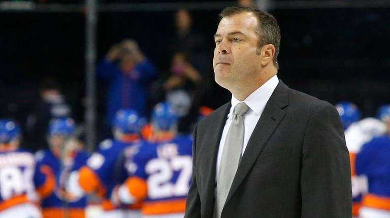 Head coach Alain Vigneault of the New