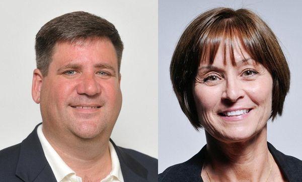 Richard Yastrzemski, left, lost to Julie Lofstad, right,