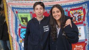 Ryan Hason with Olivia Fein, a friend who