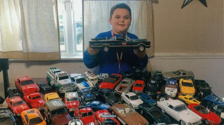 Kidsday reporter Kevin Bradley collects model cars.