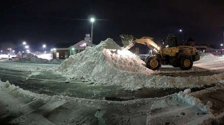 Town of Smithtown Highway Department crews worked overnight