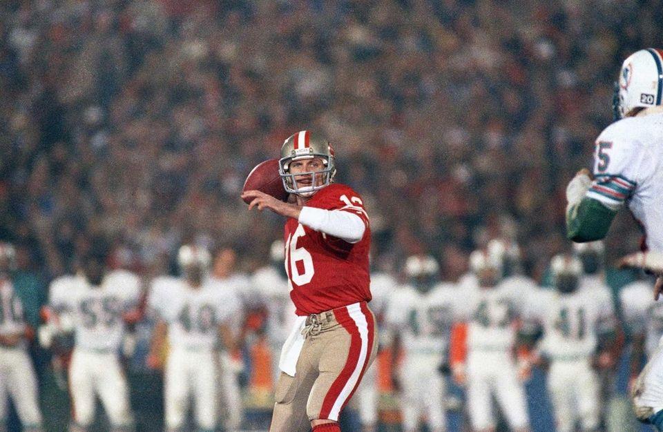Joe Montana, San Francisco 49ers (XVI, XIX, XXIII,
