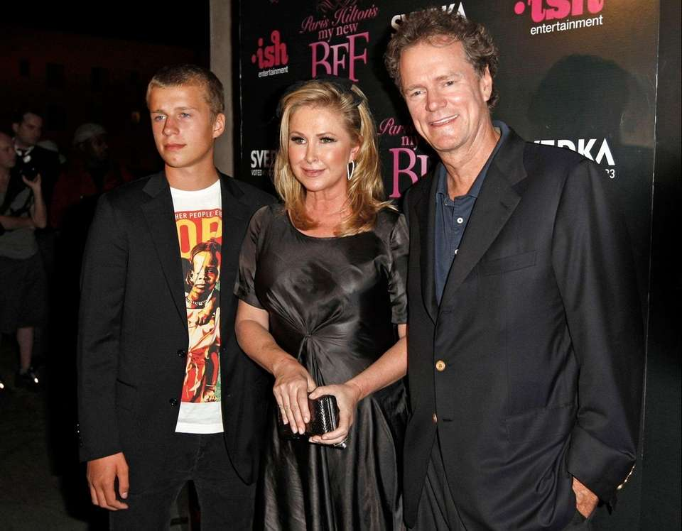 Conrad Hilton, left, son of Kathy and Rick