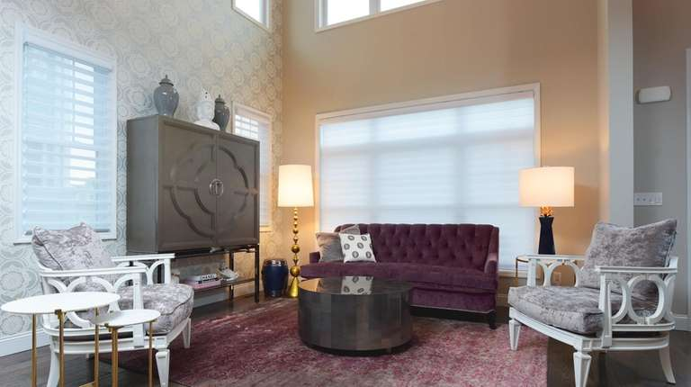 This Bellmore living room designed by Marlaina