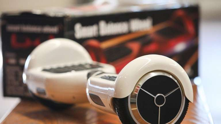 The MTA says hoverboards, like this one, are