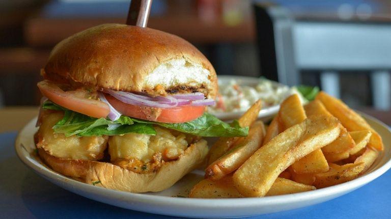 The shrimp po'boy sandwich brings the Cajun spice