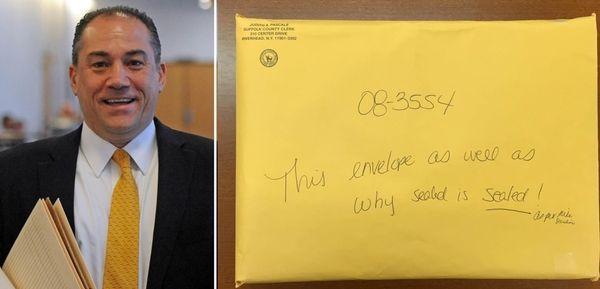 Attorney Robert Macedonio at Suffolk County Court in