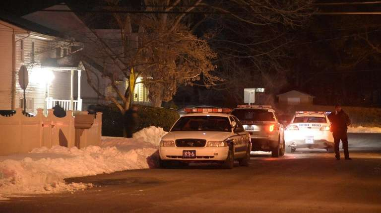 Suffolk County police investigate a shooting early Thursday,