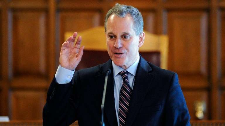 New York State Attorney Eric Schneiderman speaks