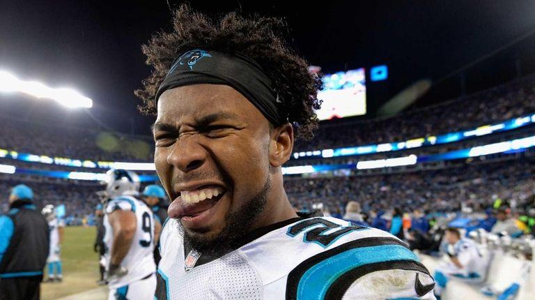 Josh Norman #24 of the Carolina Panthers celebrates