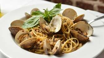 Linguine with White Clam Sauce, with local little