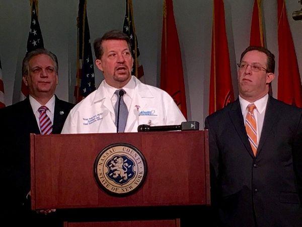Nassau County Executive Edward Mangano, left, and Health