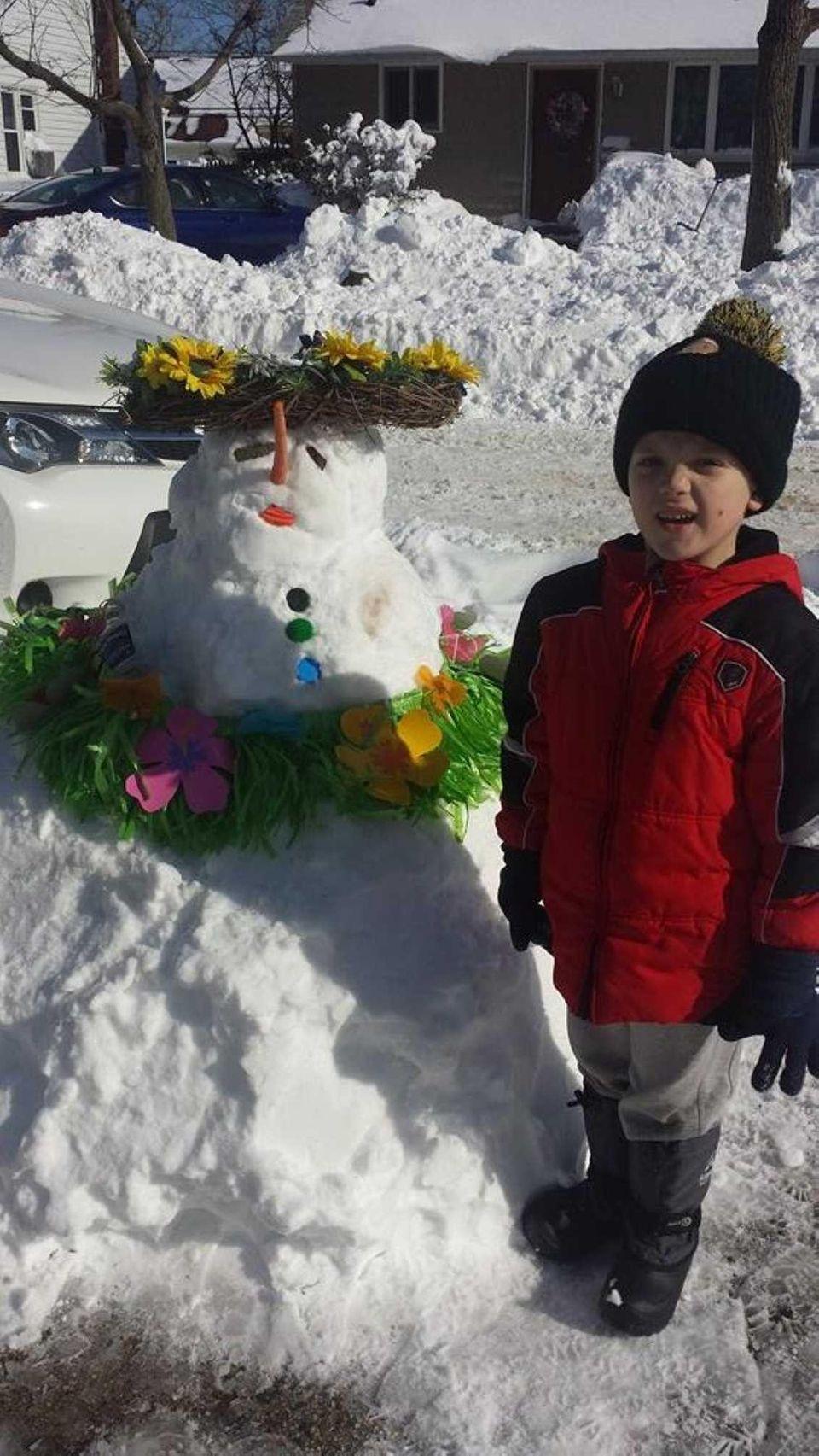Enzo Leo from Island Park, NY Luau Snowman!