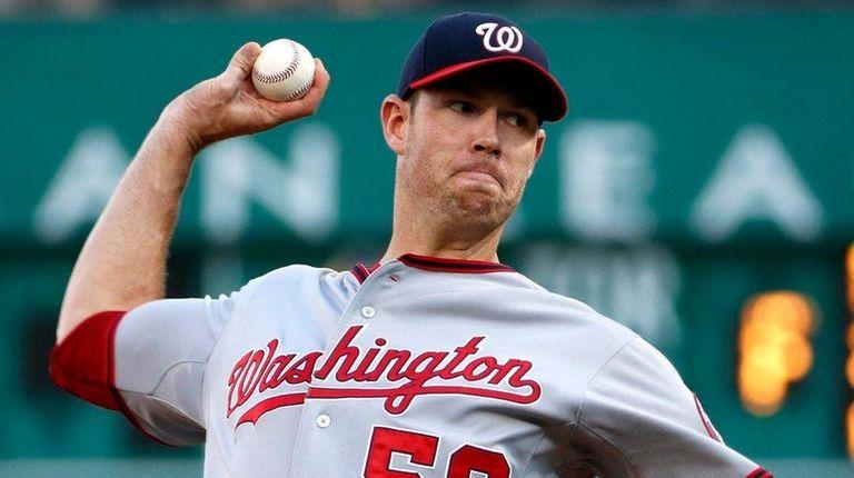 Washington Nationals starting pitcher Doug Fister (58)