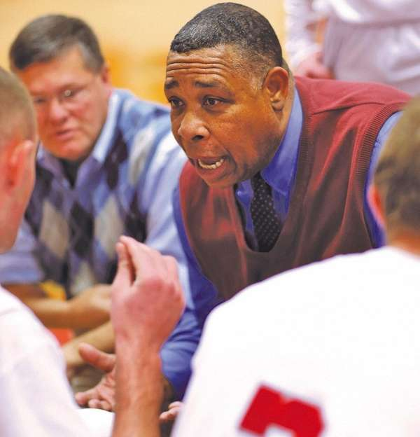 Southold boys basketball coach Phil Reed.