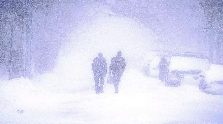 Visibility was limited along National Boulevard in