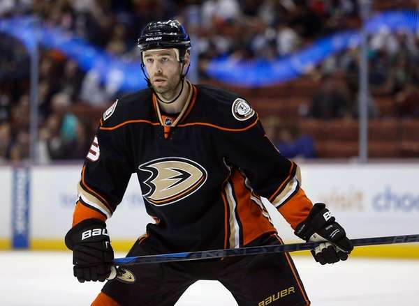 Anaheim Ducks defenseman Clayton Stoner is shown